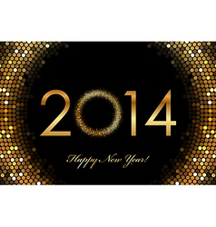 2014 Happy New Year glowing background vector image
