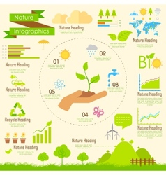 Nature infographics vector
