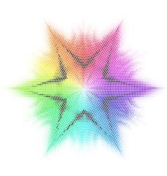 Star and mosaic vector image