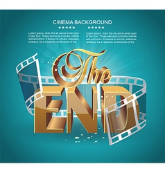 Vintage movie ending screen vector