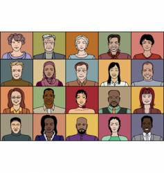 Twenty adult people vector