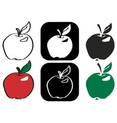 Apple with flare vector
