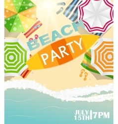 Beach summer party poster vector