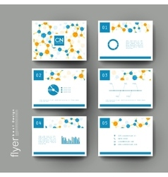 Dna molecule brochure template flyer vector