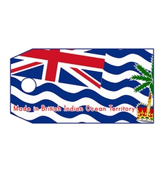 British indian ocean territory flag on price tag vector