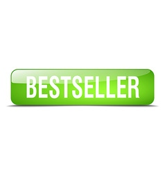 Bestseller green square 3d realistic isolated web vector