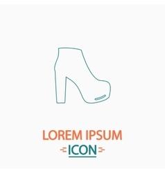 Shoe computer symbol vector