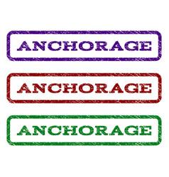 Anchorage watermark stamp vector