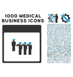 Army squad calendar page icon with 1000 medical vector