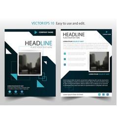 blue black annual report brochure flyer design vector image vector image