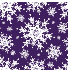 Blue seamless pattern decorative snowflakes vector image