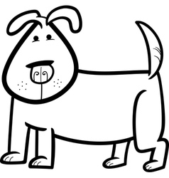 cartoon doodle of cute dog for coloring vector image vector image
