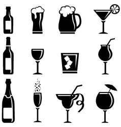Collection of beverages vector image