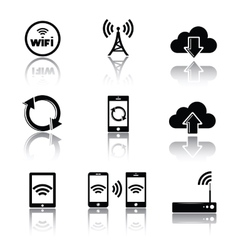 Computer related icons vector image vector image