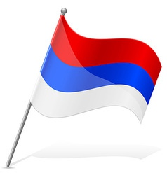 Flag of serbia vector