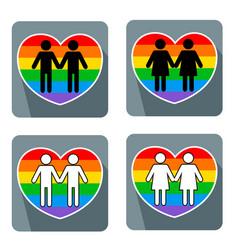gay couple symbol vector image vector image