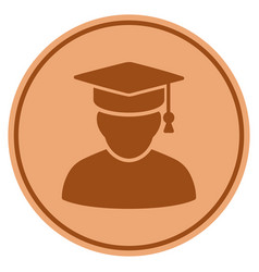 knowledge man bronze coin vector image