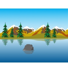 Lake in mountains vector image vector image
