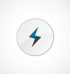 Lightning icon 2 colored vector