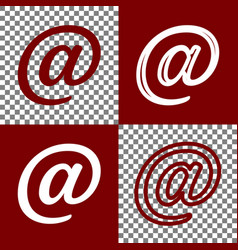Mail sign bordo and white vector