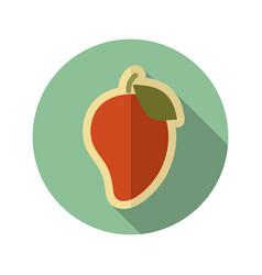 Mango flat icon tropical fruit vector
