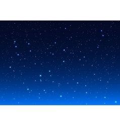 Night sky Stars in night sky vector image vector image