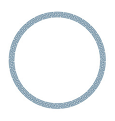 round frame greek style vector image
