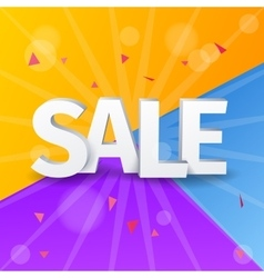 Sale letters poster on colorful background vector image vector image