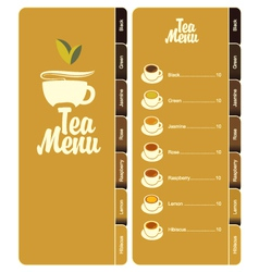 tea menu 001 vector image vector image