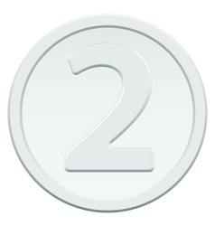 Two coin vector image