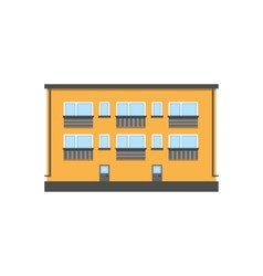 Two-storey house vector image