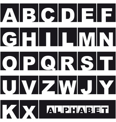 Uppercase alphabet vector image