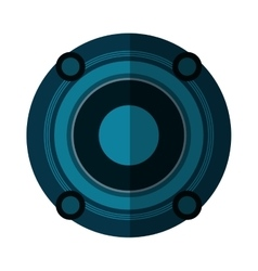 Isolated speaker of music concept design vector
