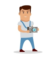 Photographer character vector