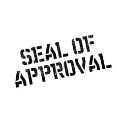 Seal of approval rubber stamp vector