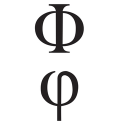 Greek symbol phi vector