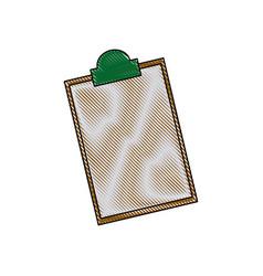 Clipboard checklist report medical equipment vector