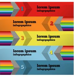 Modern infographics element number template vector