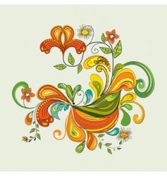 illustrative floral vector image