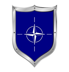 Shield with flag of nato vector
