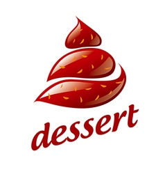 Logo chocolate ice cream vector