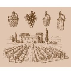 Wine doodle vector
