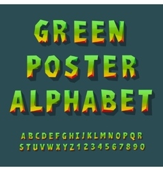 Poster alphabet and numbers vector