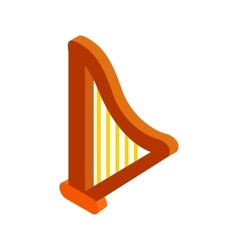 Harp isometric 3d icon vector