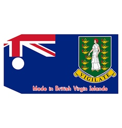 British virgin islands flag on price tag vector