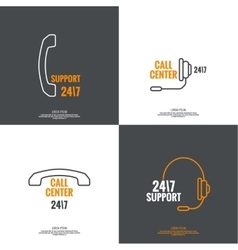 Abstract background with telephone and handset vector