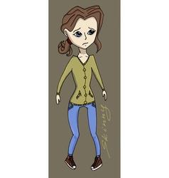 Anorexia girl vector