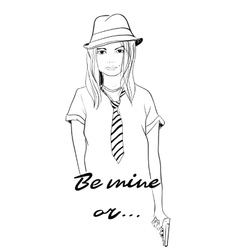 Be mine or vector image