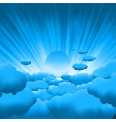 beautiful clouds vector image vector image