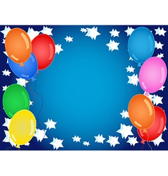 Birthday or other celebration background in blue vector image